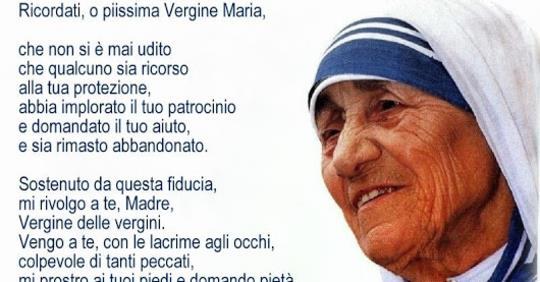 Il 'Memoràre', la preghiera di San Bernardo, amata da Madre Teresa di Calcutta